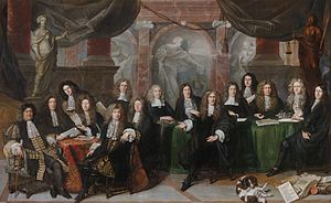 Jan de Baen -  Members of the magistrate of The Hague, 1682