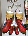 Men's Yezmeh riding boots (1902), child's shoes (1935), and anklets (1902), red leather, silver - Harvard Semitic Museum - Cambridge, MA - DSC06104.jpg