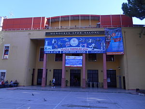 Menderes Sports Hall - Image: Menderes Sports Hall front entrance