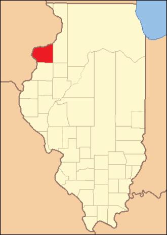 Mercer County, Illinois - Image: Mercer County Illinois 1825