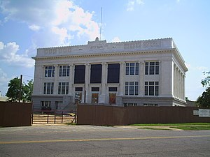 Meridian City Hall - City hall during restoration efforts in 2010.