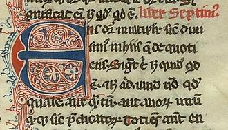 Metaphysics (Aristotle) - Book 7 of the Metaphysics: Ens dicitur multipliciter- the word 'being' is meant in many ways. From a manuscript of William of Moerbeke's translation