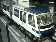 1/10 scale model of the new m2 metro in Lausanne, of the same type as the Paris line 14. A front view of the m2 is also available.