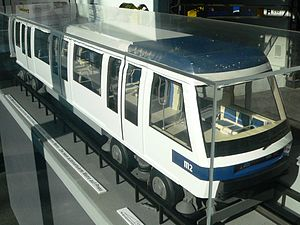 Paris Métro Line 14 - 1/10 scale model of the new m2 metro in Lausanne, of the same type as the Paris line 14