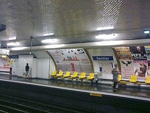 Sentier (Paris Métro) - Image: Metro sentier