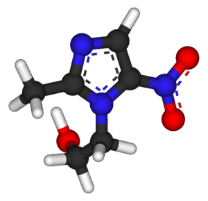 Metronidazole - Image: Metronidazole 3D 1w 3r