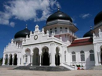 Baiturrahman Grand Mosque - Facade of Baiturrahman Grand Mosque.