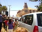 Michelle Bachelet visiting Pichilemu, to inaugurate Ross Cultural Centre 1.jpg