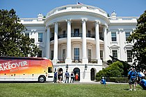 Michelle Obama Participates In The Filming Of An Extreme Makeover Home Edition Episode White House 2011