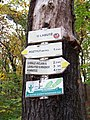 Michelský les, rozcestník U Labutě (01).jpg