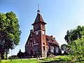 Mierzeszyn, powiat gdański, kościół protestancki z cmentarzem.JPG