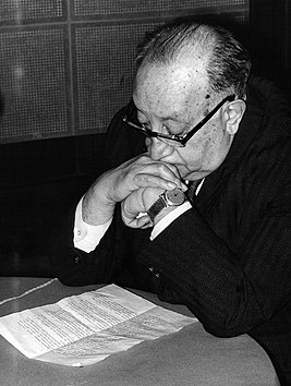 Miguel Angel Asturias, Nobel Prize of Literature 1967, at the UNESCO's studios.jpg