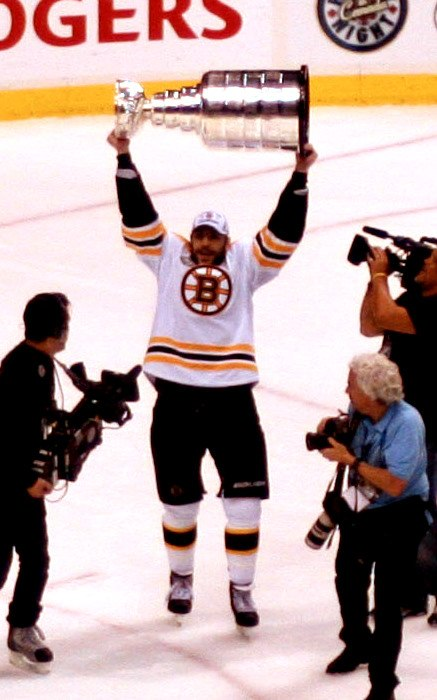Milan Lucic Stanley Cup celebration
