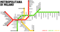 Milano - mappa rete metropolitana (schematica) - 2005-12-19.png
