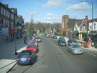 Mill Hill - Mill Hill Broadway towards Mill Hill Circus