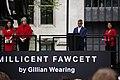 Millicent Fawcett Statue 05 - Sadiq Khan Speaks (40969220244).jpg