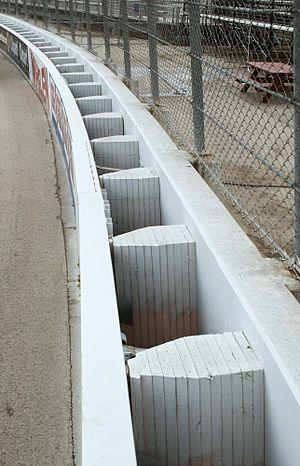 SAFER barrier - The SAFER barrier at the Milwaukee Mile