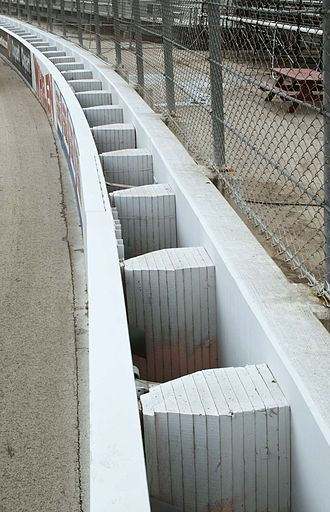 SAFER barrier - The SAFER barrier at the Milwaukee Mile