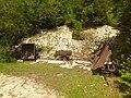Mining carts at Apfelthal, Bavaria, June 2018.jpg
