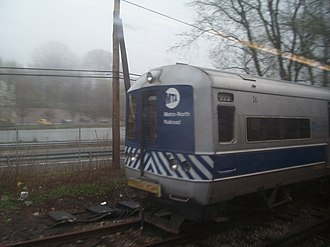 M1/M3 (railcar) - A recently retired Metro-North M1A on the dead line at Harmon Shops, April 2006