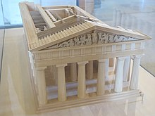 Model of temple of Zeus in Olympia (Louvre) 3.jpg