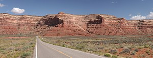 Utah State Route 261 - Approaching the Moki Dugway from the South.