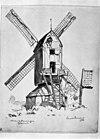 molen 1930 tekening in bezit van rijksdienst voor de monumenten zorg - beuningen - 20034349 - rce