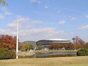Momotaro stadium looked at from the south.JPG