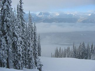 Winterlandschaft in den Monashee Mountains