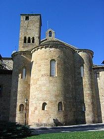 Monasterio de Leyre, ábside de la iglesia.JPG