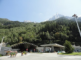 Mont Blanc Tunnel - Mont Blanc Tunnel in France