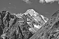Mont Dolent from Swiss Val Ferret, 2010 August, bw.JPG