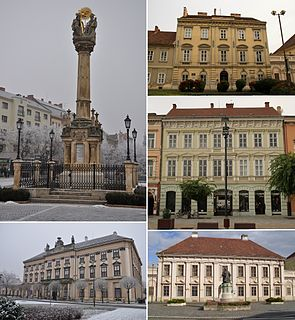 Szombathely City with county rights in Western Transdanubia, Hungary
