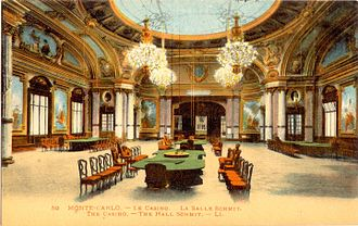 Charles Wells (gambler) - An interior view of the casino at Monte Carlo c. 1900