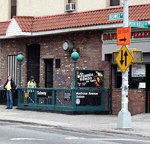 Montrose Avenue (BMT Canarsie Line) - Image: Montrose Avenue (BMT Canarsie Line) street stairway jeh