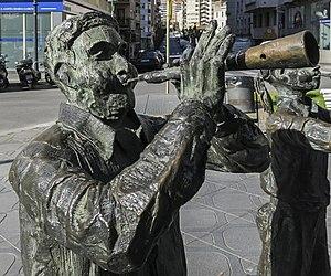 Monument als castellers (Tarragona), Detall 1.jpg