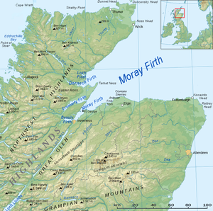 Moray Firth - Map of the Firth