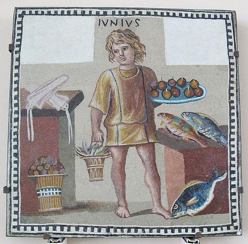 Mosaico di un giovane come mese di giugno, III secolo dc.