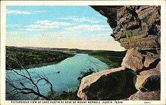 Mount Bonnell - Image: Mount Bonnel Austin TX Poscard