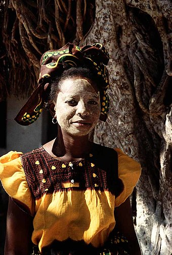 Woman with traditional mask in Mozambique Mozambique - mask.jpg