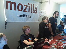 Mozilla booth at FOSDEM