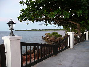 Mtwara - The Indian Ocean coast seen from Mtwara.