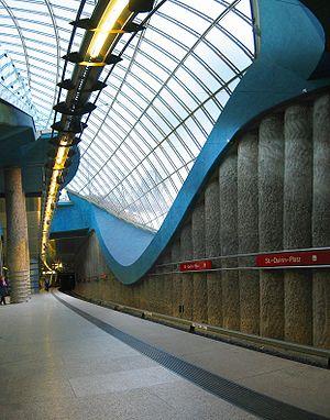 St.-Quirin-Platz (Munich U-Bahn) - St.-Quirin-Platz station platform.