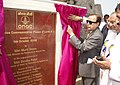 Murli Deora unveiling the plaque to dedicate ONGC's first Oil Well marking the Golden Jubilee celebration of Lunej Oil Well, at Lunej (Cambay Basin) in Gujarat on October 05, 2008.jpg
