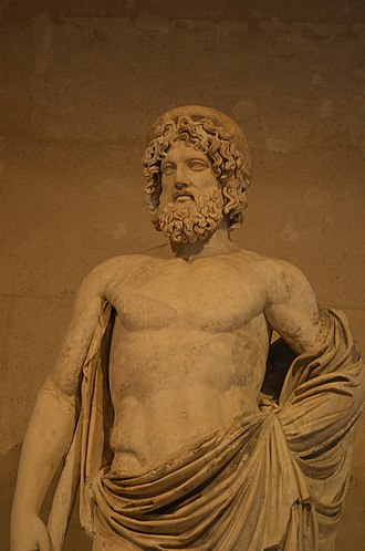 Ancient Greek religion - Asclepios, god of medicine. Marble Roman copy (2nd century AD) of a Greek original of the early 4th century BC. Asclepios was not one of the Twelve Olympians, but popular with doctors like Pausanias, and their patients.
