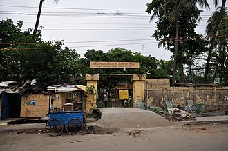 Mutty Lall Seal - Mutty Lall Seal's shrine and almshouse on B T road.