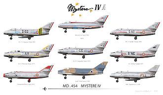 Dassault Mystère IV - Dassault Mystère IV MD 454