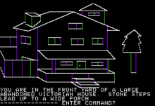 Mystery House sur Apple II.