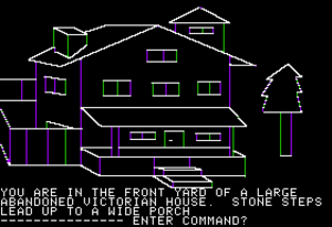 Sierra Entertainment - Image: Mystery House Apple II render emulation 2