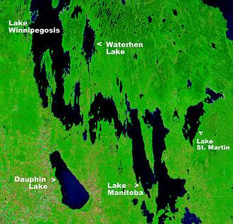Waterhen River (Manitoba) - The Waterhen River flows south to Lake Manitoba from Waterhen Lake.